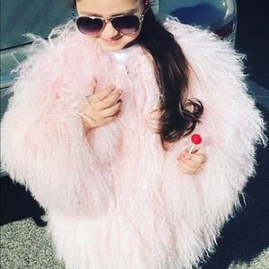 Authentic Adrienne Landau toddler fur coat SZ 2/3